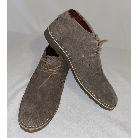 Kenneth Cole Reaction Men's Uptown Taupe Suede Des